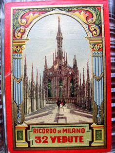 Ephemera Vintage Ricordo di Milano Photo Guidebook by PaperSage