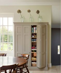 Awesome 60 Built In Kitchen Pantry Design Ideas. More at https://trendecor.co/2017/10/08/60-built-kitchen-pantry-design-ideas/