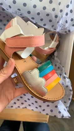 Gorgeous toddler girls sandals with rainbow details. Browse our huge range of kids sandals for summer at our online store based in Australia. Toddler Sandals, Toddler Girl Shoes, Baby Sandals, Kids Sandals, Baby Girl Shoes, Kid Shoes, Girls Shoes, Toddler Girls, High Heels For Kids