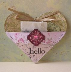Make a heart-shaped pocket and put a tea bag in it.