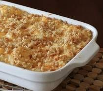 Hashbrown Casserole, instead of the bread crumbs I use crushed corn flakes.