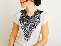 NECKLACE // Imperiosa // Handmade Black Floral Lace