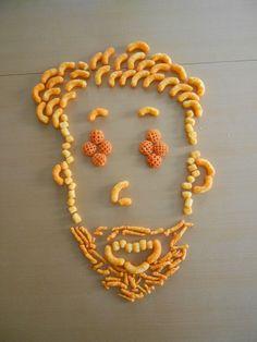 "#Selfportrait using #Cheetos Xtra Cheezy Mix! @ChesterCheetah @LifeOfDadShow  ""Chris Tucker – CHEETOS MIX-UPS Art"""