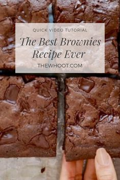 Gemma's Best-Ever Brownie Recipe (w/ Video) - Bigger Bolder Baking - - My chef-tested, Best Ever Brownies recipe are everything you'd want in a homemade brownie: ooey-gooey, fudge-like, and oh so delicious! Cake Mix Brownies, Beste Brownies, Peanut Butter Brownies, Brownie Cake, Chocolate Brownies, Buttermilk Brownies, Buttermilk Dessert Recipes, Easy Brownies, Cocoa Powder Brownies