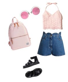 """""""Summer time"""" by oceane-vallieres on Polyvore featuring mode, Valentino, Dr. Martens, Hollister Co., Herschel Supply Co. et Christian Lacroix"""