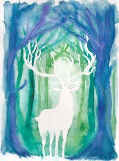 Spirit Deer by nienor.deviantart.com on @DeviantArt  For Jenna