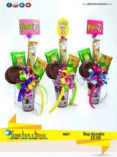 Globos, Flores y Fiestas Diy Bouquet, Candy Bouquet, Magic Party, Birthday Bouquet, Chocolate Bouquet, Ideas Para Fiestas, Employee Appreciation, Gift Baskets, Diy And Crafts