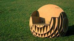 fauteuil en carton design extraordinaire, une suggestion un peu plus sophistiquée à faire soi meme