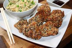 "Kotlety sojowe "" Jing-jang "",wegetariańskie,obiad,kolacja Fried Rice, Cake Recipes, Fries, Vegan, Chicken, Ethnic Recipes, Food Cakes, Diet, Cakes"