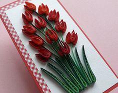 Quilling carta-carta - auguri di compleanno - compleanno di mamma carte - compleanno mamma - auguri - matrimonio - anniversario-