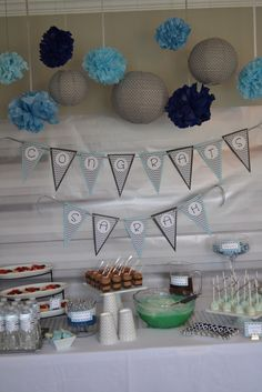 Modern Baby Boy Shower - this pin was just for me! :)