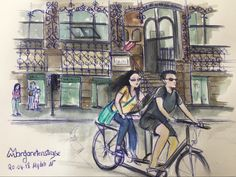 Margareten Straße  #urbansketching #sketchbook #sketch_dailydose Times New Roman, Body M, Urban Sketching, Sans Serif, Sketches Of People, Drawing S, Urban Sketchers