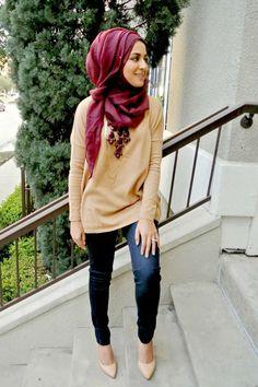 كيفية تنسيق اللون الأحمر مع الحجاب بدون مبالغة | ايف ارابيا