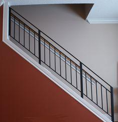wrought iron stairway railing | Toronto Custom Metal Railings, Stairs, Bars Grills Photo Gallery