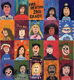 Art Projects for Kids: Self-Portrait Painting