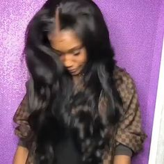 ♡Pinterest : @joyfaithimani 🖤👑 Hairstyles Videos, Prom Hairstyles, Hair Videos, Weave Hairstyles, Straight Hairstyles, Pretty Hairstyles, Celebrity Hairstyles, 360 Lace Wig, Natural Wigs
