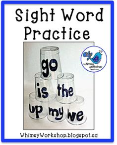 Whimsy Workshop Teaching: Sight Word Practice Ideas