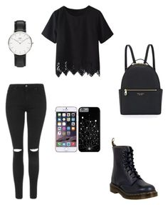 Sans titre #45 by naolinewooz on Polyvore featuring polyvore, mode, style, Topshop, Dr. Martens, Henri Bendel, Daniel Wellington, Ted Baker, fashion and clothing