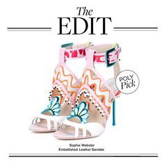 """The Edit: Sophia Webster Embellished Leather Sandals"" by polyvore-editorial ❤ liked on Polyvore featuring Sophia Webster and theedit"