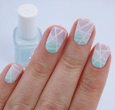 Striping Pastel Nails