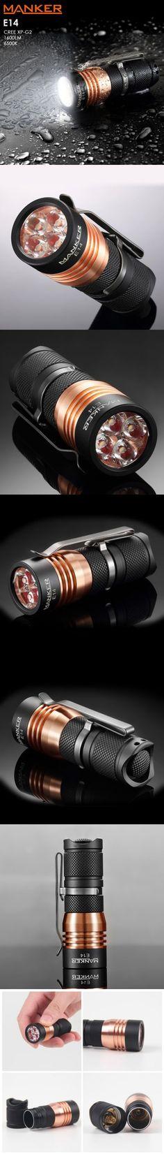 LED Flashlights   Manker E14 Mini EDC LED Flashlight $39.90