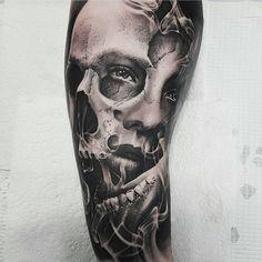 Afbeeldingsresultaat voor realistic tattoo sleeve