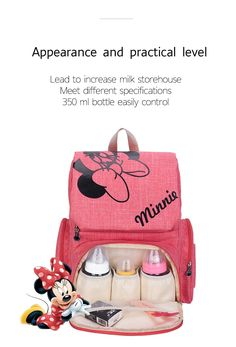 New 2019 Disney Moms Maternity Diaper Bags Collection - baby products list Cute Diaper Bags, Girl Diaper Bag, Buy Backpack, Diaper Bag Backpack, Travel Backpack, Minnie Baby, Mickey Mouse Diaper Bag, Pink Minnie, Minnie Mouse