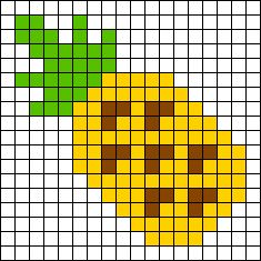 Pineapple perler bead pattern