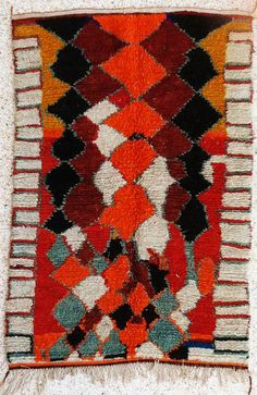 natural virgin wool carpet AZILAL berber rug from Morocco via Etsy