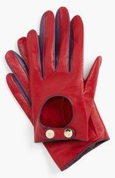 Ted Baker London Button Leather Gloves