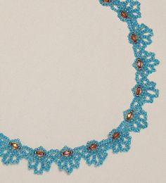Free Bead Patterns and Ideas : Blue Loops Necklace - Free Pattern