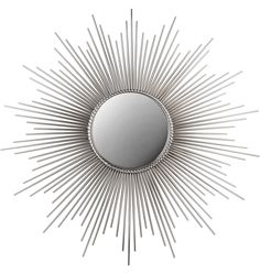 Sunbeam Mirror in nickel. Via Rejuvenation