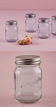 Vintage-Inspired Raised-Script Love Mini Mason Jars (Set of 6)