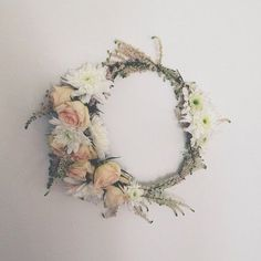 Fresh Flower Crown by Flower Girl Los Angeles #wedding #flowers