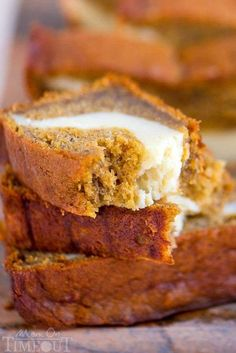This Pumpkin Cheesecake Banana Bread is perfect for dessert but also doubles as an amazing breakfast - it's pretty amazing no matter what time you eat it!