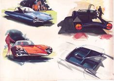 Car Sketches by Syd Mead