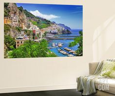 Travel In Italy Series - View Of Beautiful Amalfi Wall Mural by Maugli-l at Art.com