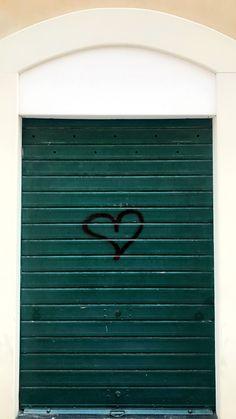 love heart green door