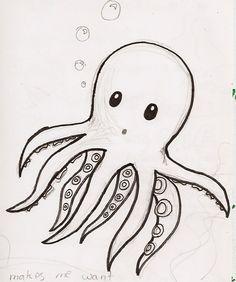 Bilderesultat for cute octopus drawing