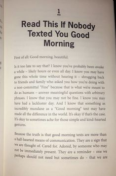 Good morning texts are more than a half-heated means of communication. They are … – Noelle Mae Lumb – Good morning texts are more than a half-heated means of communication. They are … – Noelle Mae Lumb – Motivacional Quotes, Cute Quotes, Words Quotes, Wise Words, Qoutes, Timing Quotes, Hilarious Quotes, Hilarious Pictures, Girl Quotes