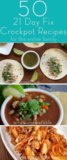 50 Delicious 21 Day Fix crockpot recipes that are perfect for the entire family. Don't make a separate dinner for the adults when there are so many great 21 Day Fix Slowcooker recipes to be found on the web.