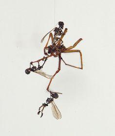 Tiny sculpture by Tessa Farmer, each around 1cm tall