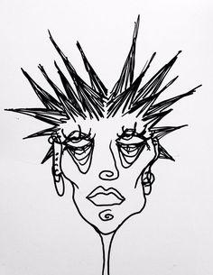 Indie Drawings, Cool Art Drawings, Art Drawings Sketches, Weird Drawings, Arte Peculiar, Hippie Painting, Hippie Drawing, Trash Art, Grunge Art