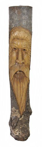 39 Inch Tree Man Face Carved in Oak Wall Decor by Things2Die4. $49.99. Hand Carved. 39 in. Tall, 6 1/2 in. Wide, 5 in. Deep. Carved from Oak. This awesome wall hanging is hand carved from oak and is wonderfully detailed. It features a bearded man's face, and has a natural finish with the bark still on for a rustic look. This piece measures approximately 39 inches tall, 6 1/2 inches wide, 5 inches deep and has a 3 inch long twisted rope hanger on back. It makes a f...