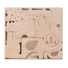 NEW - Safari Jumble Wooden Puzzle + Play from Petit Collage $32.00