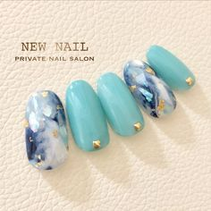 45 Ideas For Fails Art 2018 Marble Gel Nails At Home, Japanese Nail Art, Manicure Y Pedicure, Pretty Nail Art, Gel Nail Designs, Stylish Nails, Easy Nail Art, Perfect Nails, Blue Nails