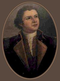 Hugh Mercer (1726-1777) was a soldier and physician.  He initially served with British forces during the Seven Years War but later became a brigadier general in the Continental Army and a friend of George Washington.  Mercer died as a result of his wounds received at the Battle of Princeton and became a fallen hero and rallying symbol of the American Revolution.
