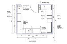 Dimension dressing, dimension placard : tous nos plans pour dessiner votre dressing ou placard - Côté Maison Dressing Pas Cher, Dressing Area, Dimension Dressing, Creative Office Space, Room Dimensions, Joinery, Architecture Design, Floor Plans, Construction