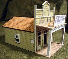 Cowtown Chronicle: Index Train Miniature, Miniature Houses, Outdoor Restaurant, Restaurant Bar, Dog Houses, Bird Houses, Ho Scale Buildings, Le Far West, Stage Design