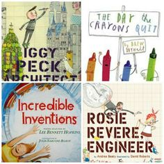 Children's picture books for engineering and creativity.  I love using picture books for both younger students and older students as a way to introduce a new idea and inspire them.